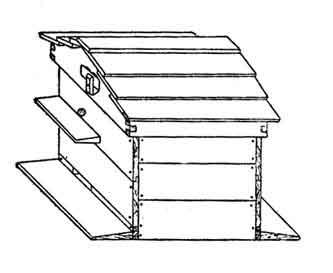 улей-лежак, рамочный горизонтальный (гнездо увеличивается в сторону) улей.